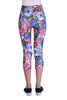 Blue And Pink Flower Leggings