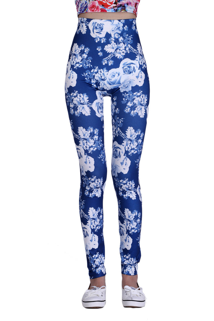 Rose Leggings In Blue