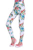 Retro Floral Leggings In White