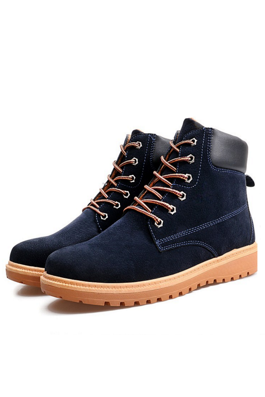 Urban Lace-Up Boots In Navy