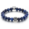 Lapis paw beaded bracelet