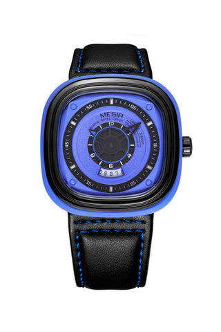 Blue Analog Quartz Sport Watch