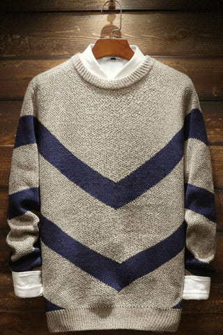 Wave Striped Knitted Sweater