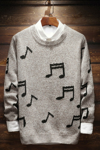 Musical Note Knitted Sweater