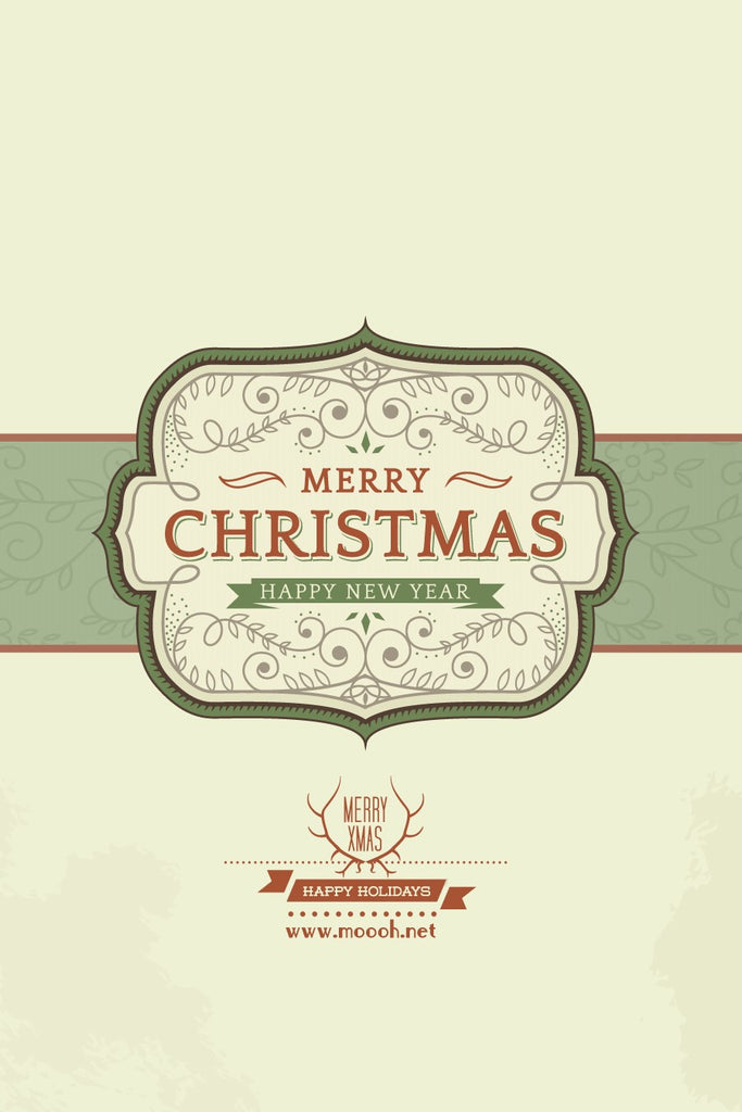 Wish You A Vintage Merry Christmas Gift Card