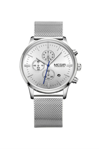Stainless Steel Business  Watch In Silver