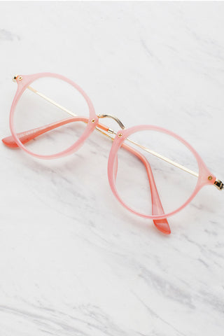 Pink Glasses With Clear Lens