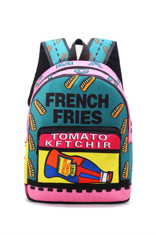 French Fries Graffiti Backpack