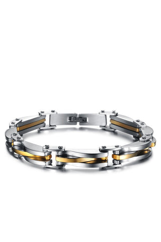 Men's Fashion Stainless Steel Golden Bracelet