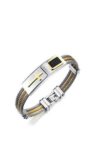 Cross Stainless Steel Bracelet