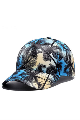 Palm Tree Print Baseball Hat