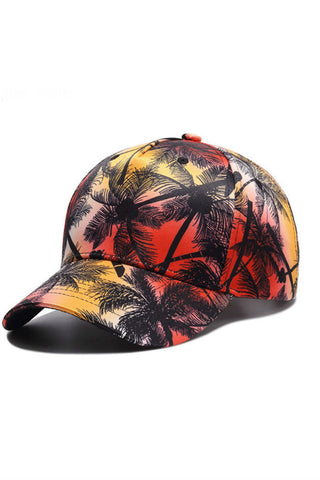 Palm Tree Print Baseball Cap