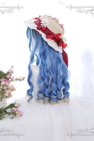 Blue Curly Cosplay Wig