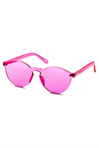 Retro Pink Clear  Sunglasses