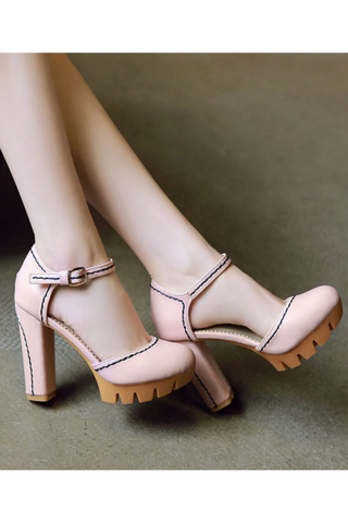 Pink D'orsay Pump Shoes
