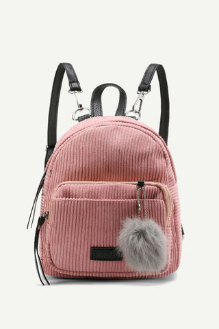 Retro Corduroy Pink Backpack