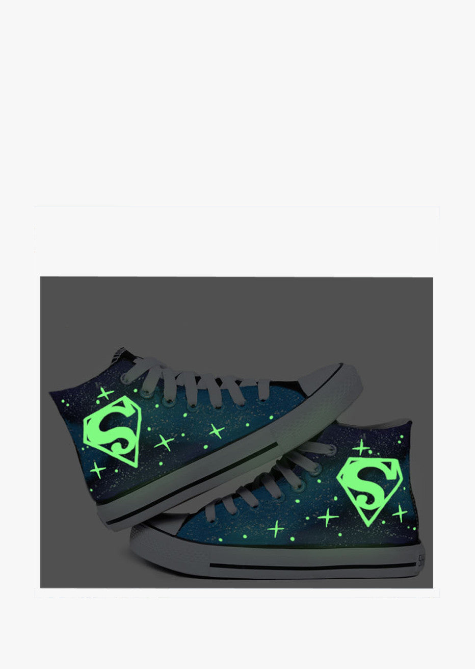 Galaxy Logo Painted Sneakers