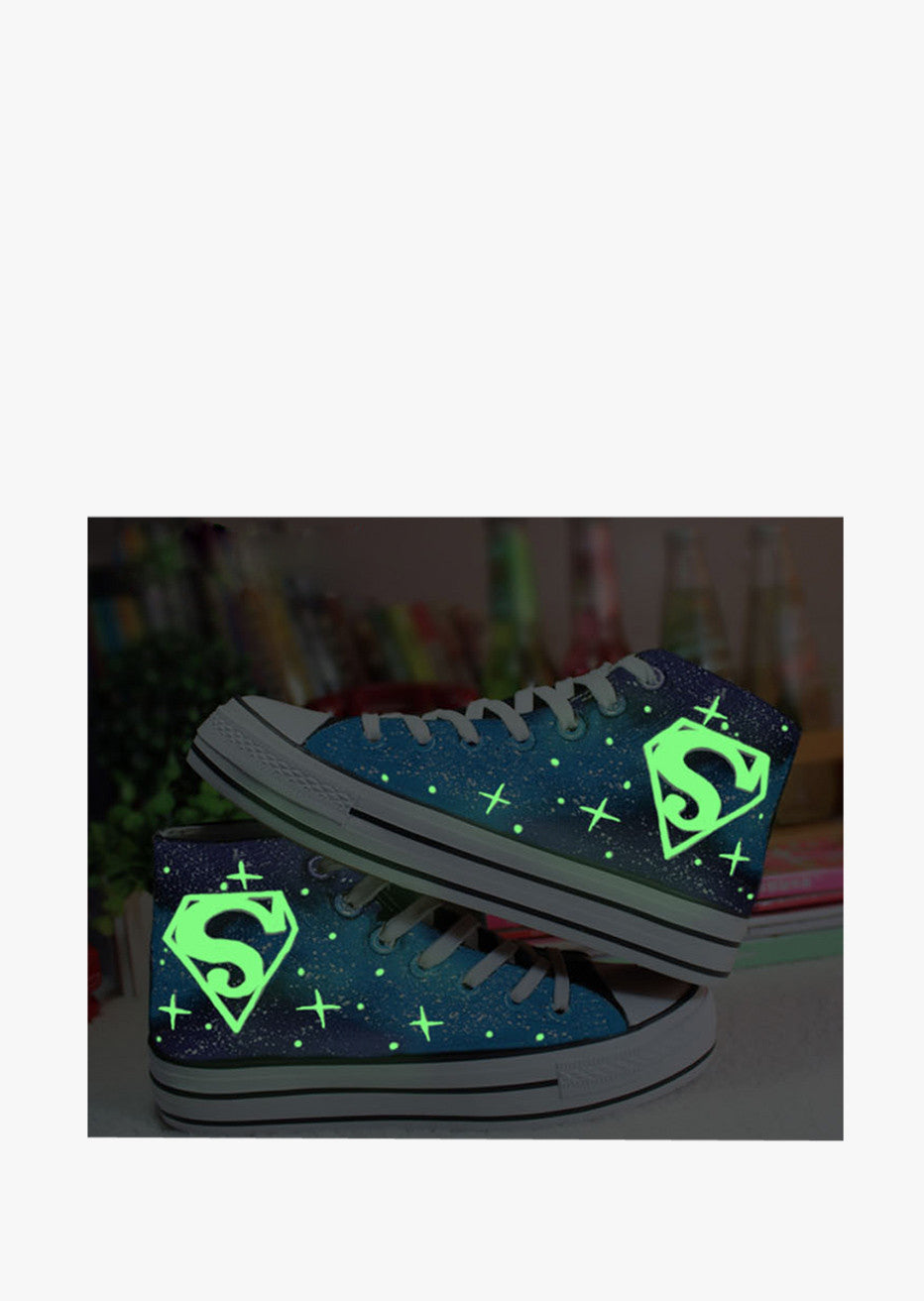 Glow In The Dark Logo Sneakers