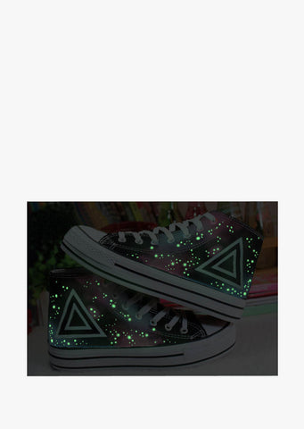 Glow In The Dark Triangle Sneakers