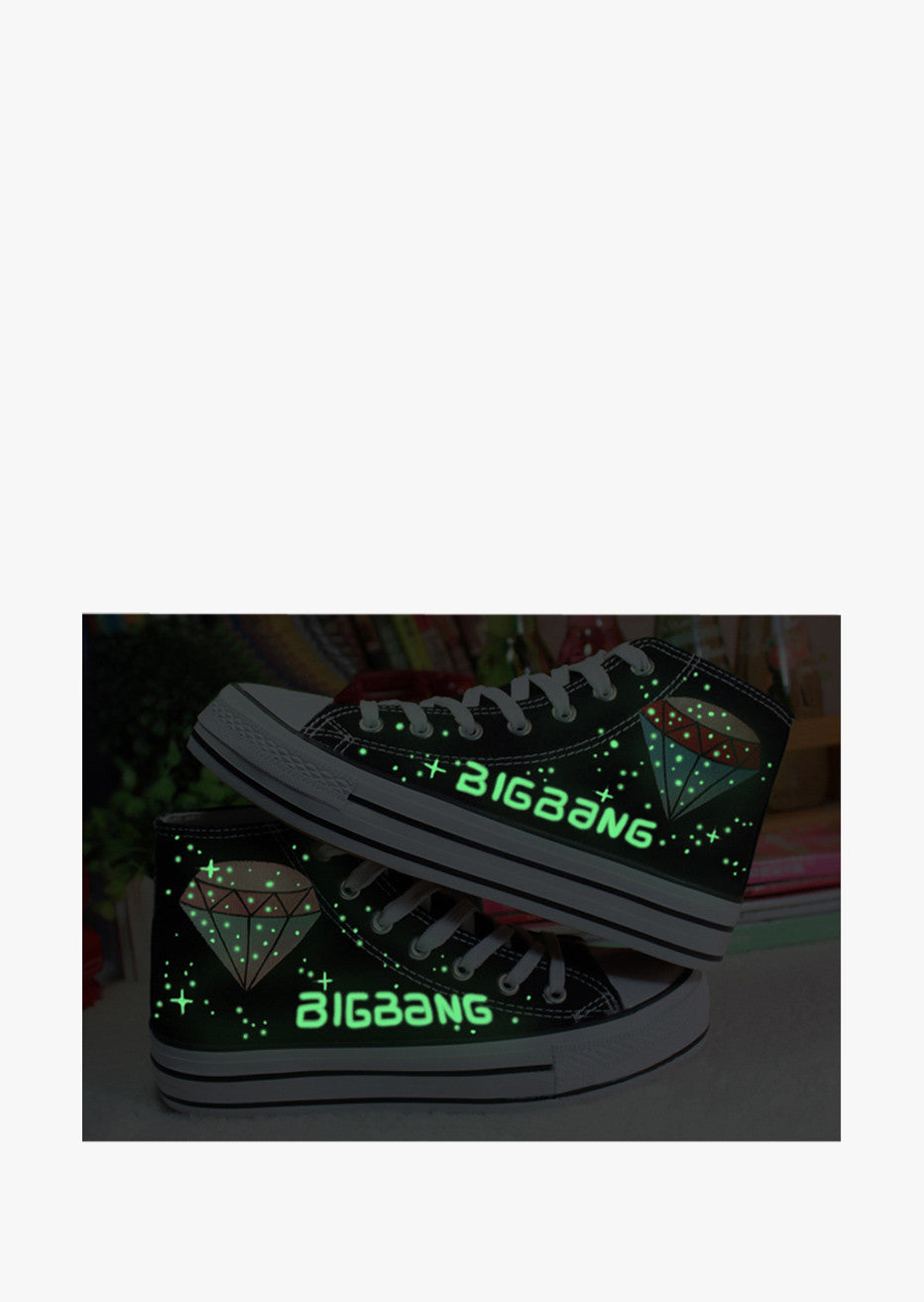 Glow In The Dark Diamond Sneakers