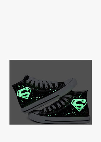 Logo Painted Black Sneakers