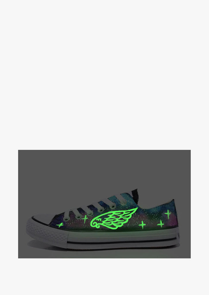 Feather Glow In The Dark Galaxy Sneakers