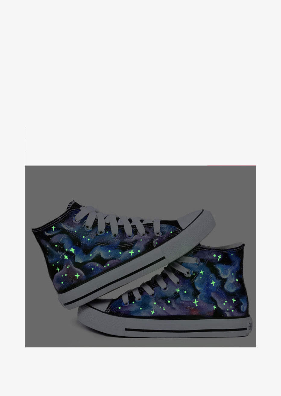 High Top Galaxy Sneakers