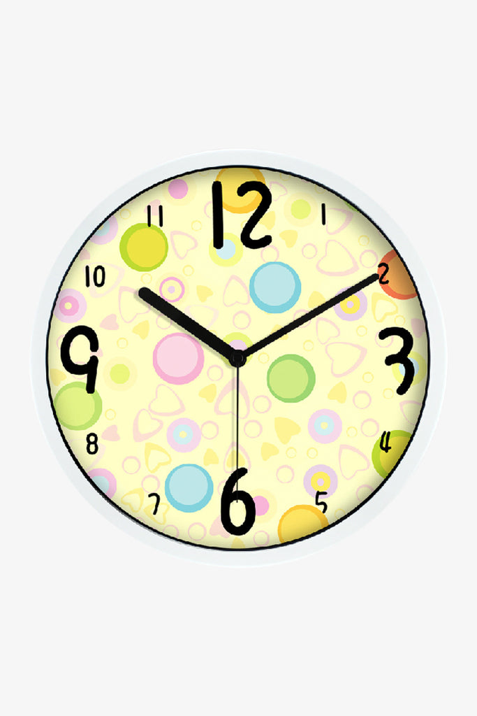 Art Wall Clock Lovely Ball In White