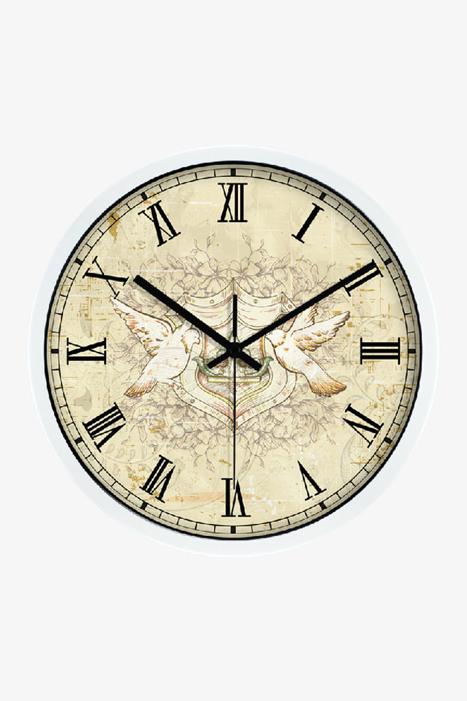 Vintage Art Clock White