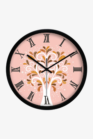 Art Wall Clock Cute Tree In Black