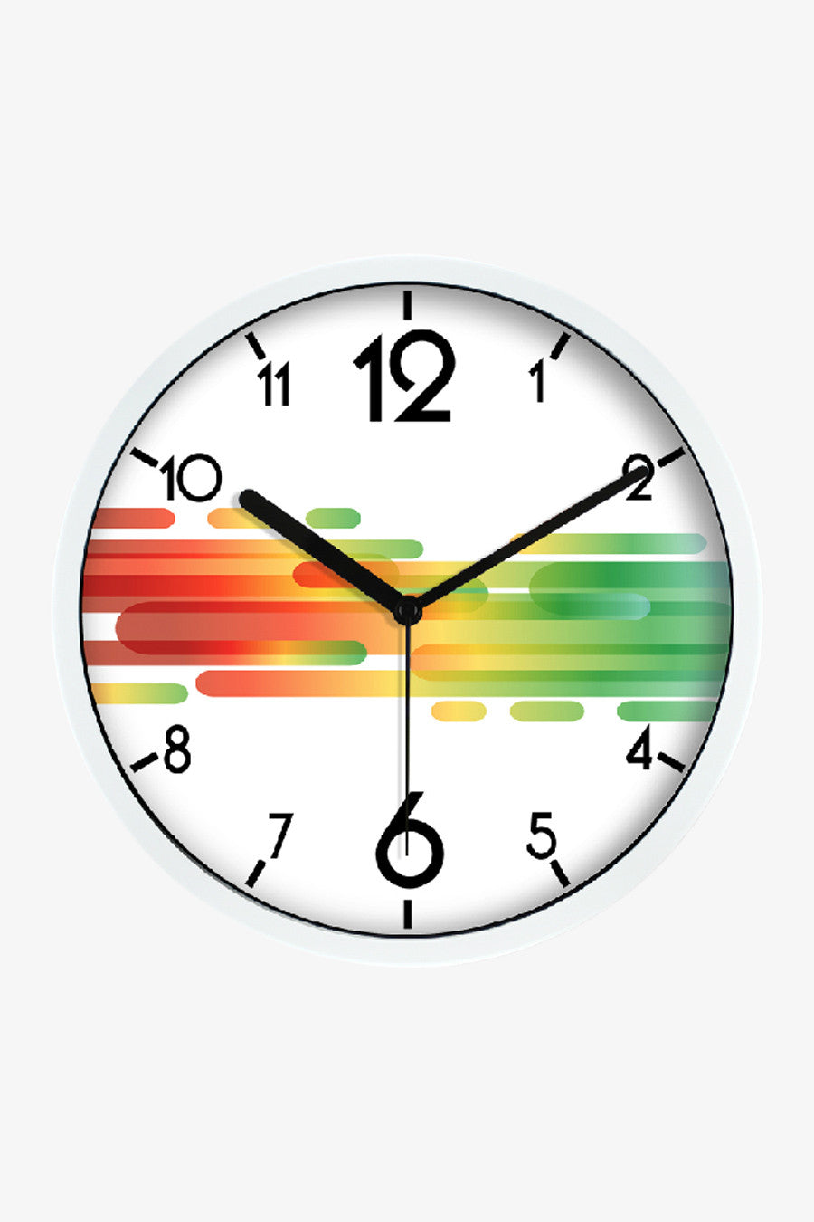 Art Stripes Clock White