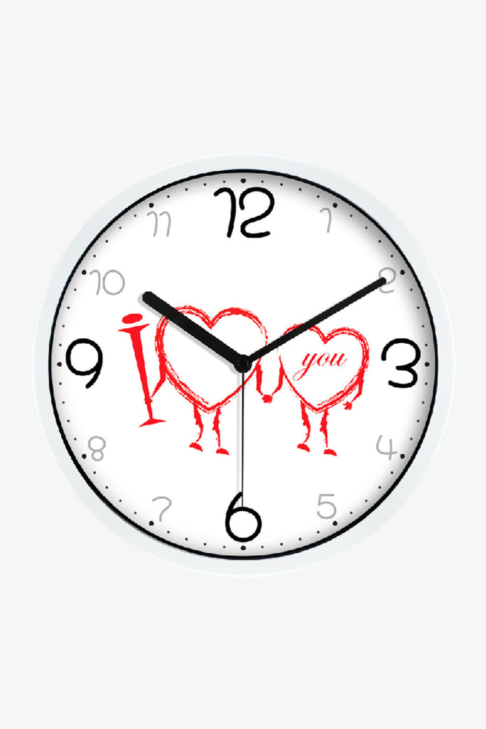 Fashion Art Wall Clock Romantic Love In White