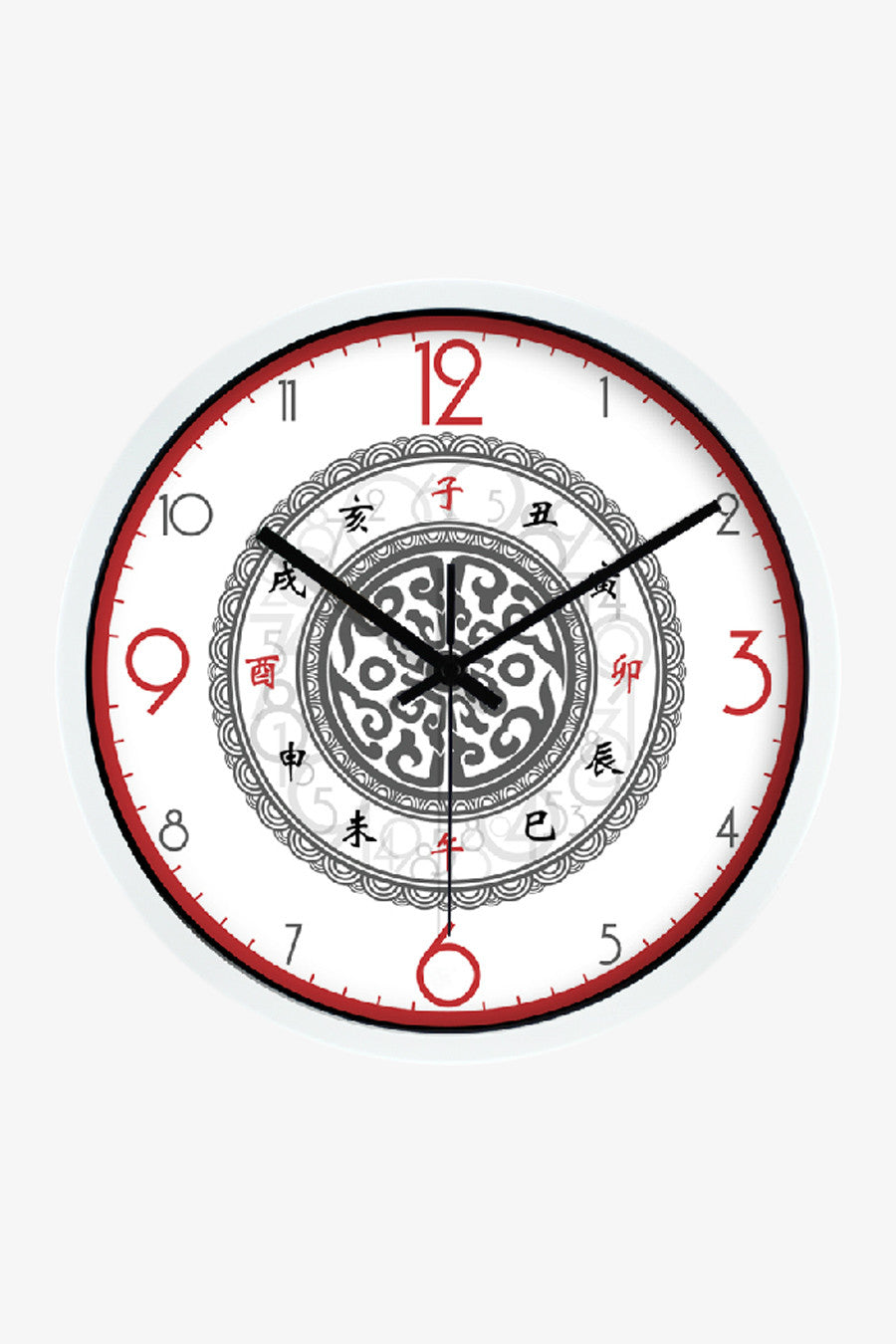 Tradition Art Wall Clock White