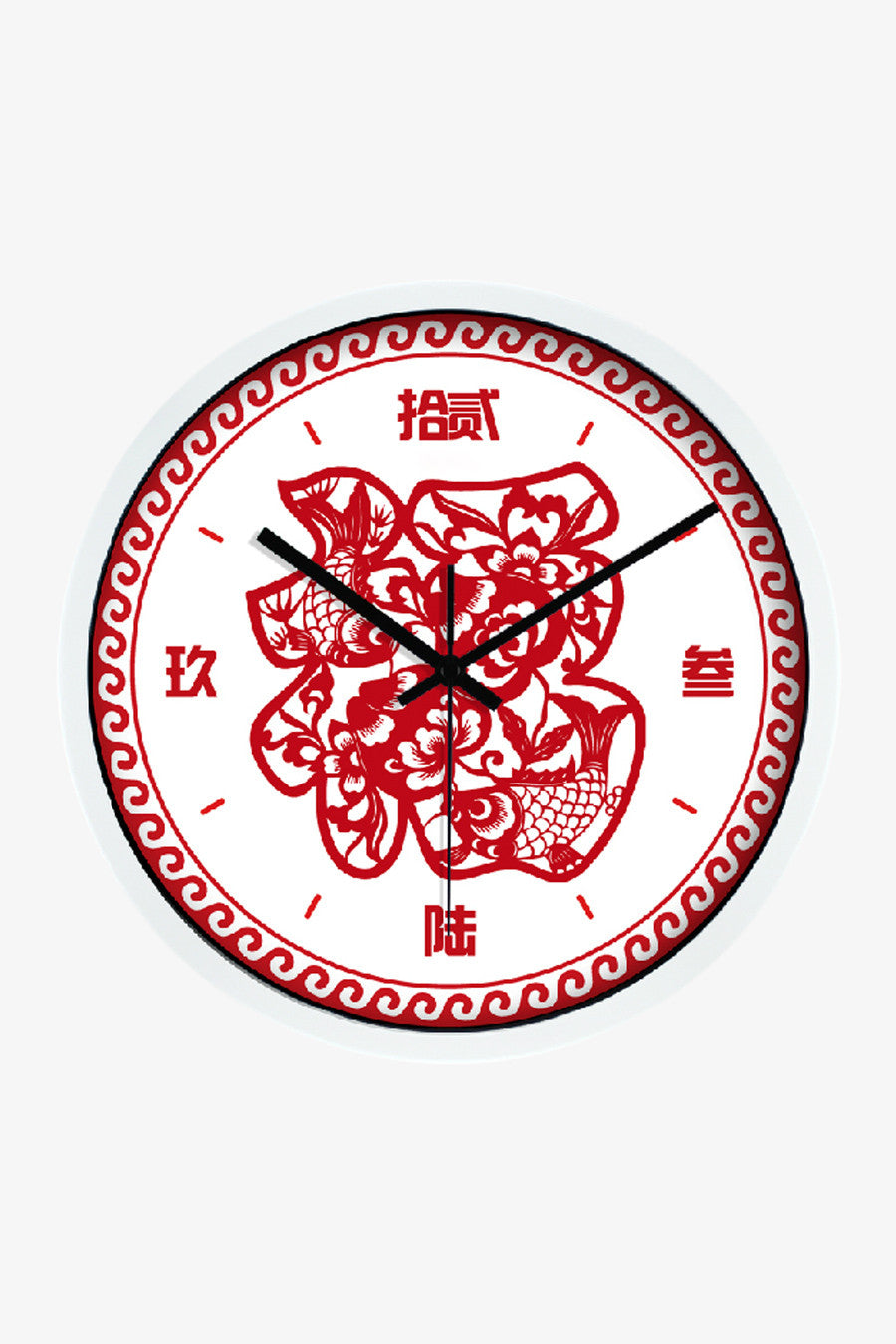 Fortune Clock In White