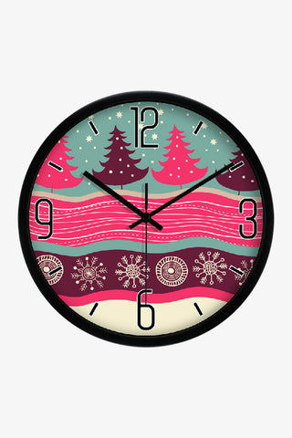 Christmas Tree Clock Black