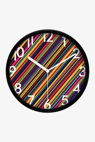 Art Stripes Clock Black