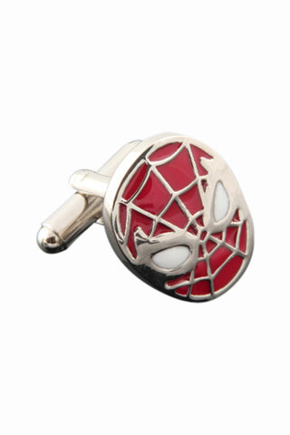 Retro Spiderman Cufflinks In Red