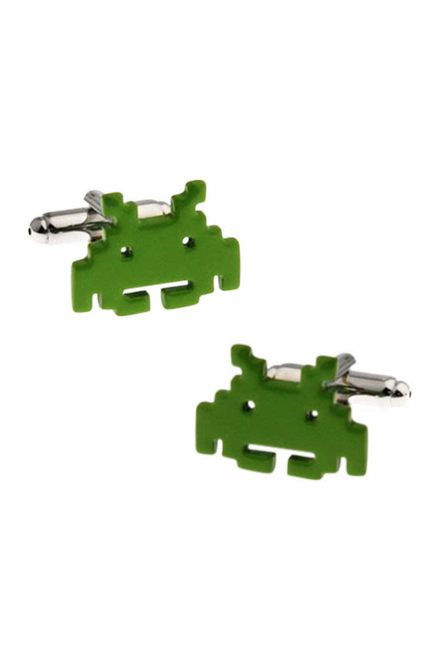 Space Invaders Men's Dress Shirt Cufflinks