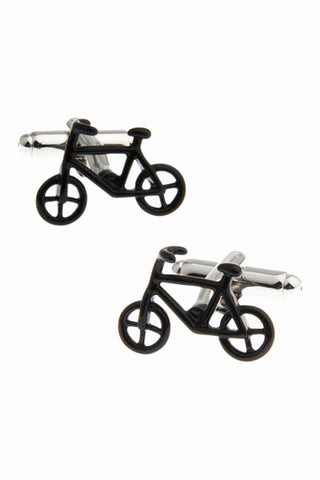 Bicycle Men's Cufflinks In Black