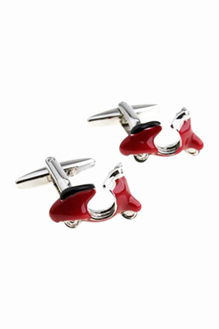 Motorcycle Men's Cufflinks In Red