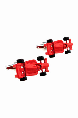 Red Racing Car Cufflinks For Men
