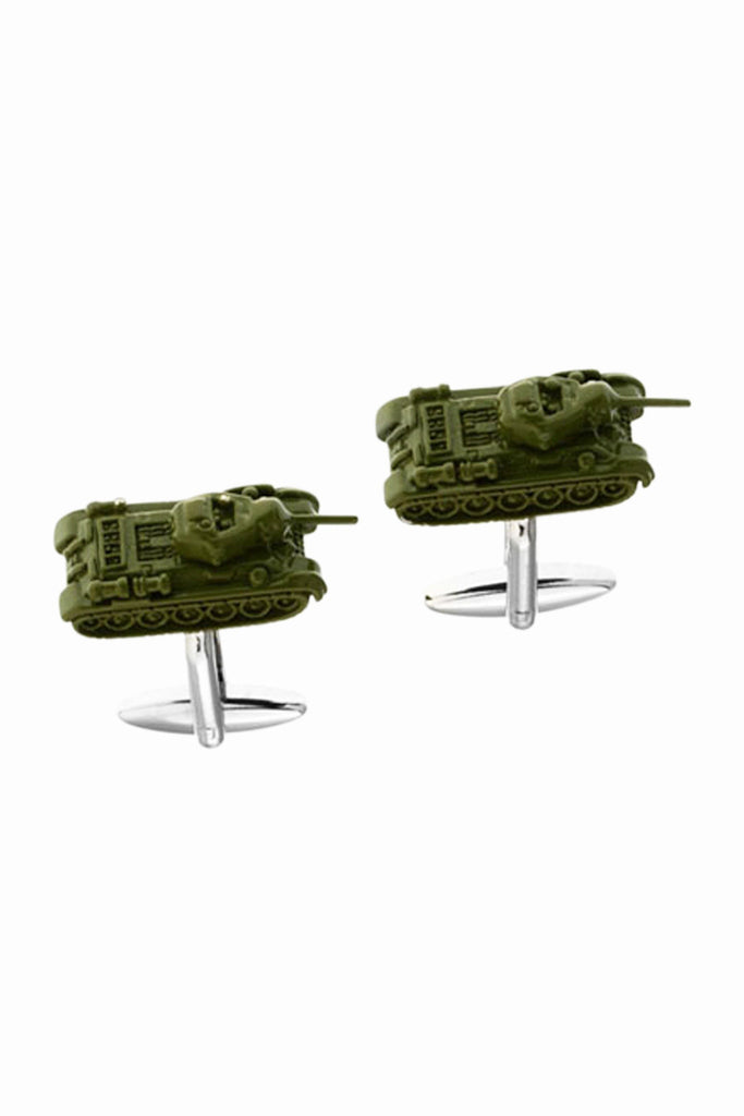 Vintage Army Green Tank Men's Cufflinks