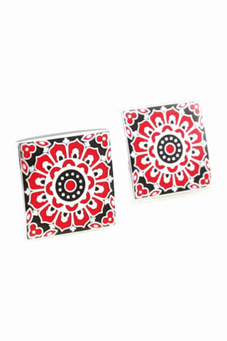 Byzantine Mosaic Red Cufflinks