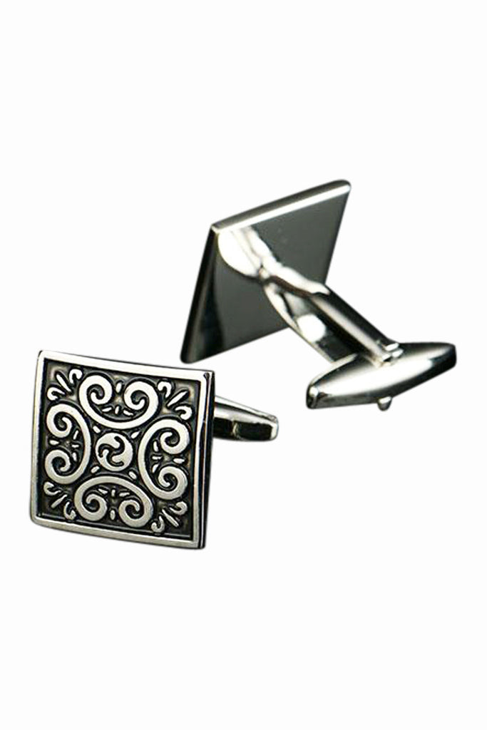 Embossed Oxidized Cufflinks