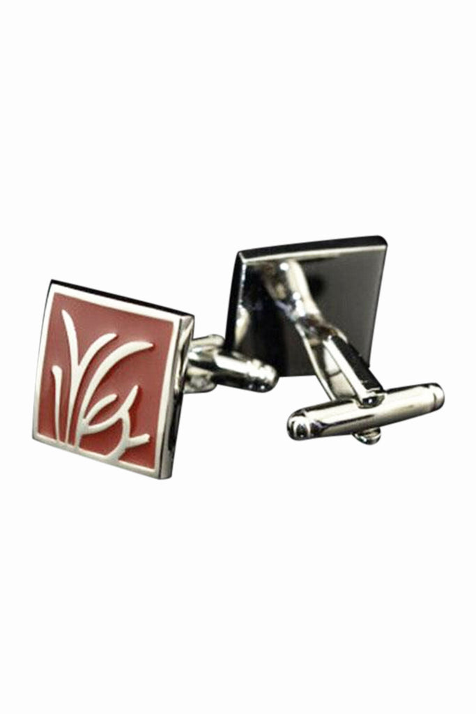 The Quartet Dianthera Shirt Decorative Cufflinks In Burgundy