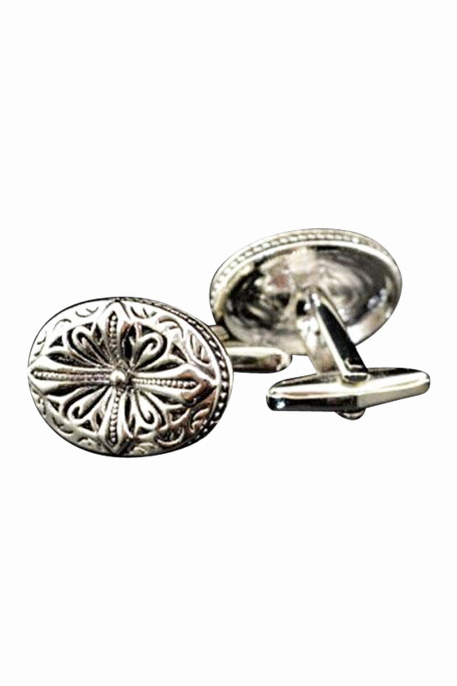 Vintage Style Silver Cufflinks For Men