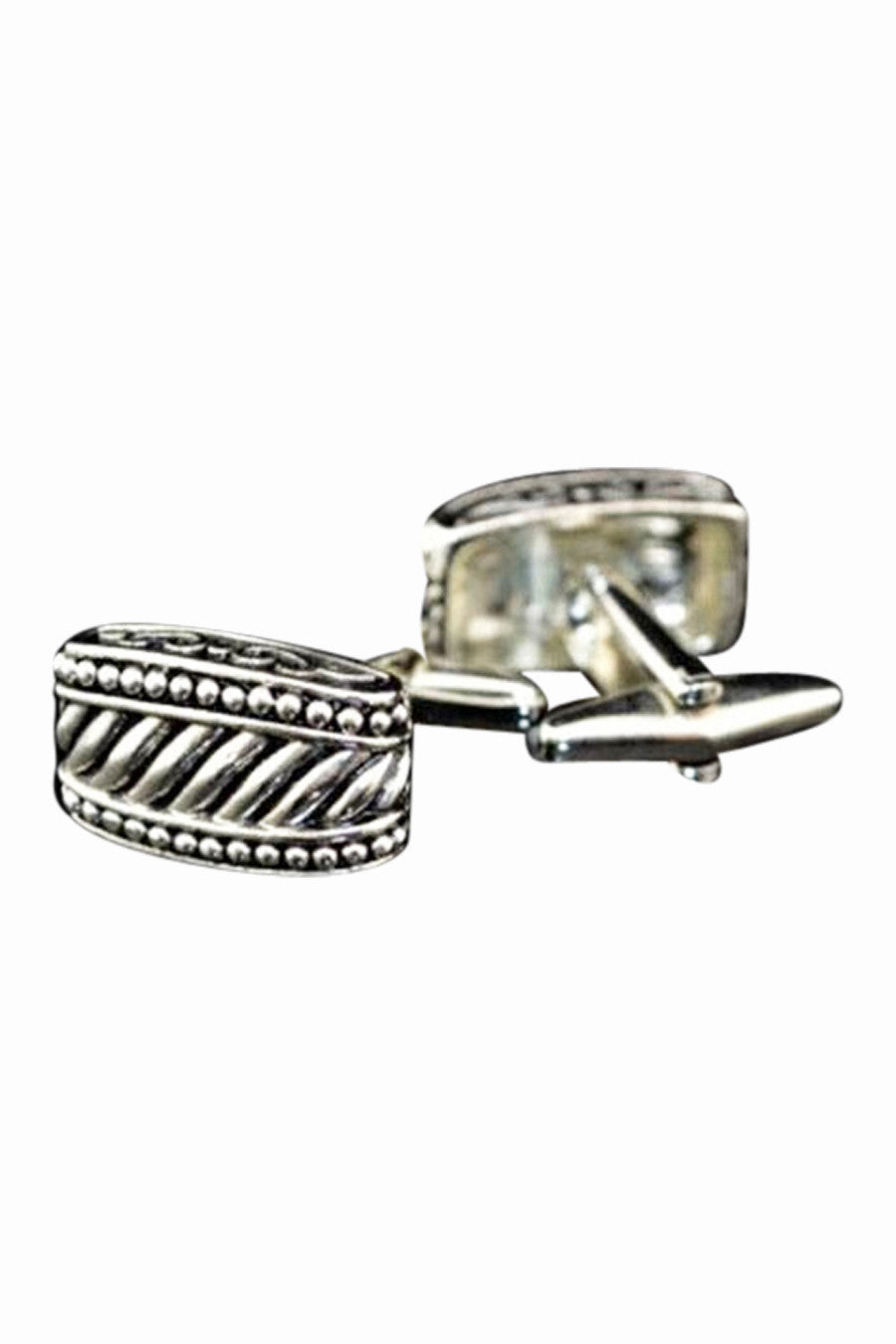 Retro Style Design Silver Cufflinks