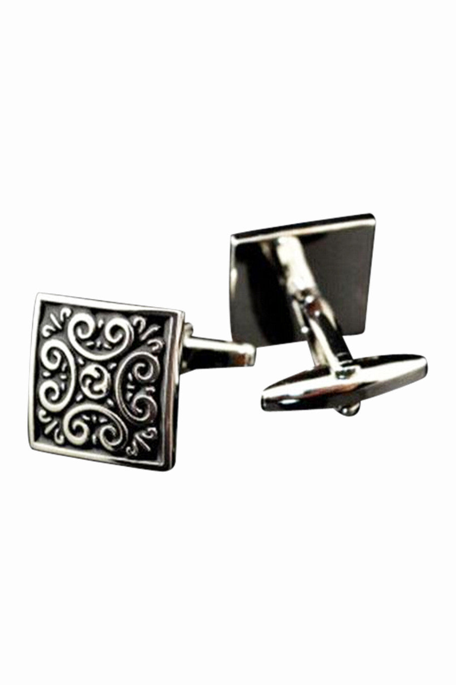 Roman Empire Vintage Design Ancient Silver Cufflinks