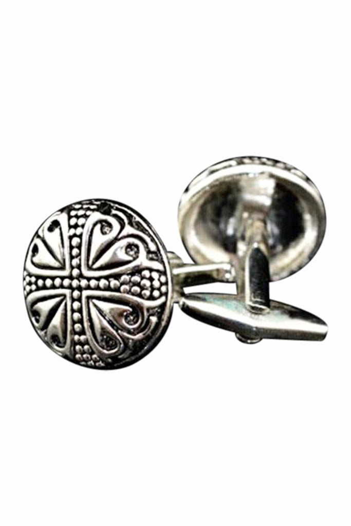 Vintage Pattern Design Ancient Silver Cufflinks
