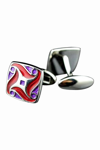 Vintage Red Enamel Men's Cufflinks